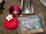 Mickey hats, Donald lucky day book, wizard of oz book set