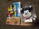 Mickey camera, wrist watch, toys