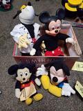 4 disney mickey stuffed animals