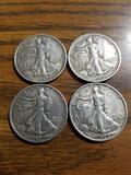 Walking liberty coins 1929, '38, '42, '47