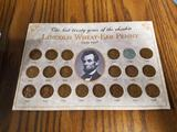 Lincoln wheat penny collection 1934-1958