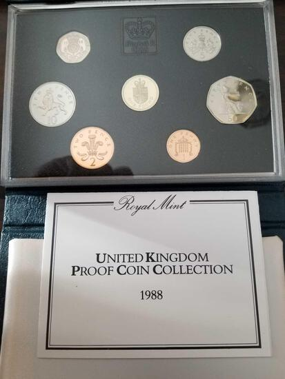 1988 UK proof coin set
