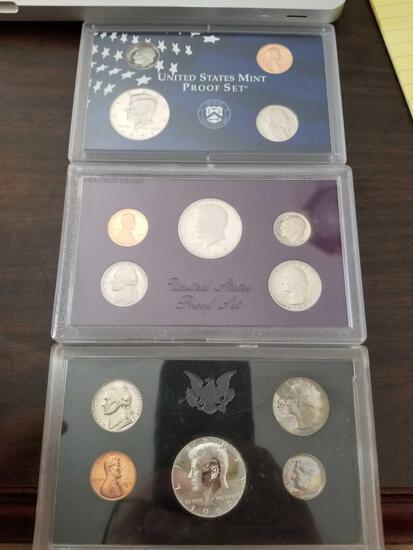 1969, 1985, 1999 proof sets, bid x 3