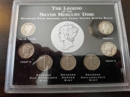 The Legend of the Silver Mercury Dime set