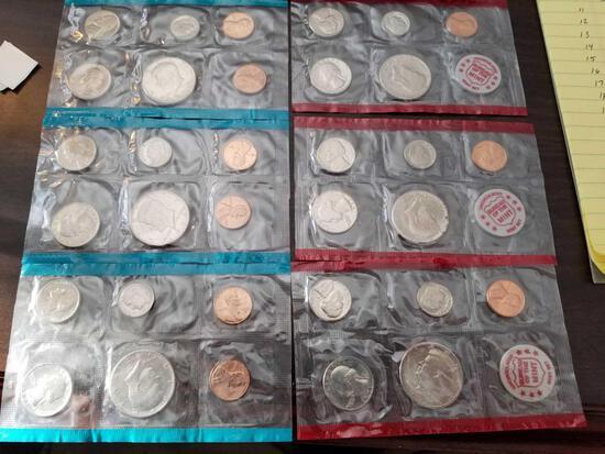1971 proof sets, bid x 6