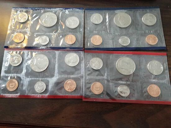 1988 and 1989 proof sets, bid x 4