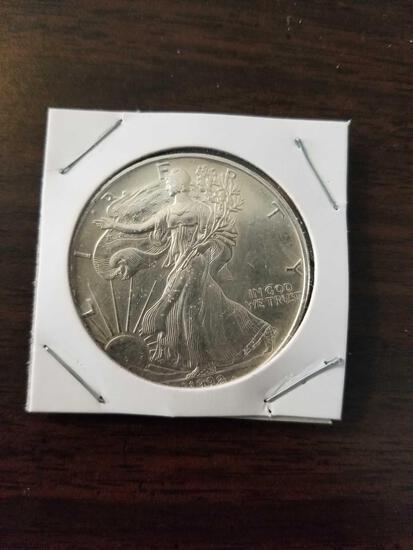 1993 Silver eagle dollar