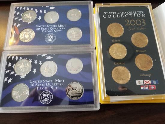 State quarter proof sets, bid x 3