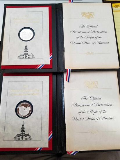 Official Bicentennial Day Commemorative Medals, bid x 2