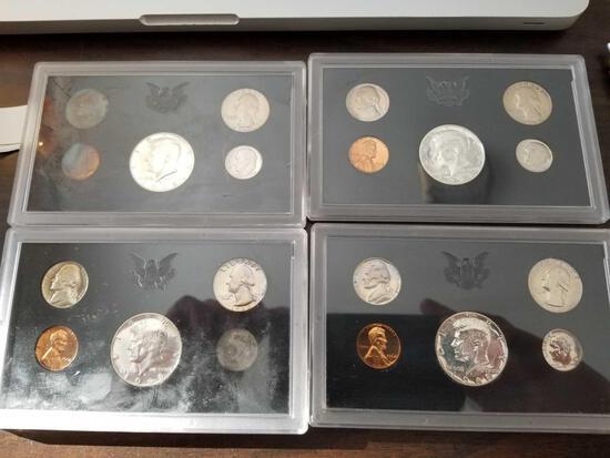 1968 proof sets, bid x 4