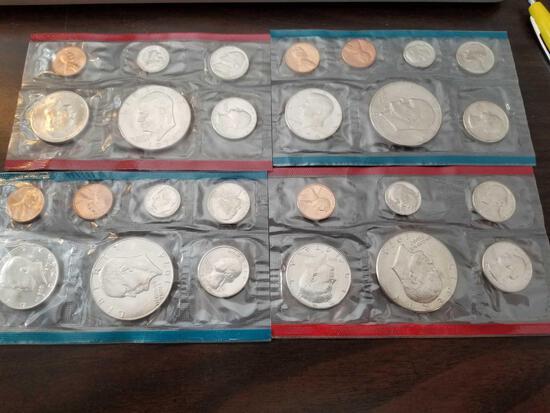 1974 proof sets, bid x 4