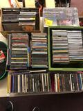 Large collection of CDs and CD holders
