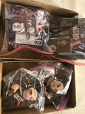Star Wars action figurines and plush