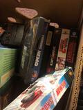 Box of misc. clock books, etc