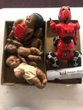 Baby dolls, robot, bracelets