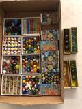 Vintage marbles, shooter marbles