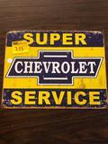 Chevrolet metal sign