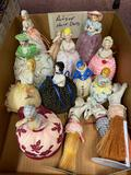 Antique half dolls