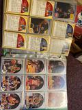Album of older basketball cards, 1 flat baseball cards