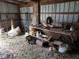 Chop Saw, Misc. Tools, Hardware, Contents on Wall