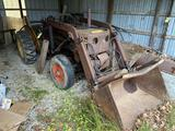 Case Front-End Loader with Bucket and Plow, runs good