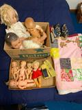 Dolls and Quilt (small Chinese shoes not included)