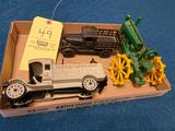 Cast-Iron Truck and Tractor
