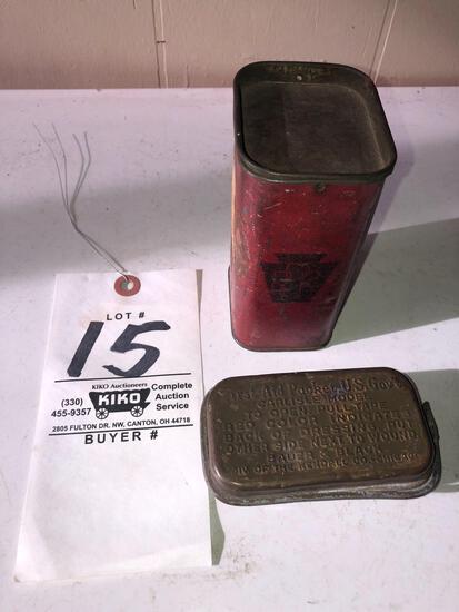 Pennsylvania RR & military Carlisle first-aid kits