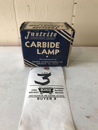 Justrite carbide lamp in original box