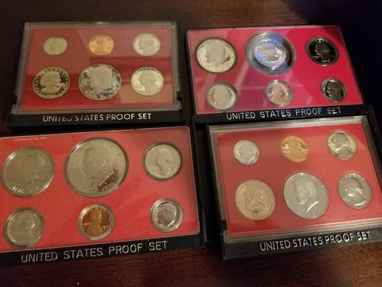Proof sets, '79, '81, '82, bicentennial. Bid x 4