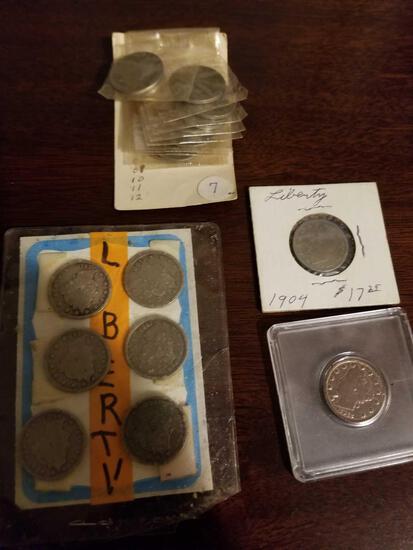 V nickels, bid x 19