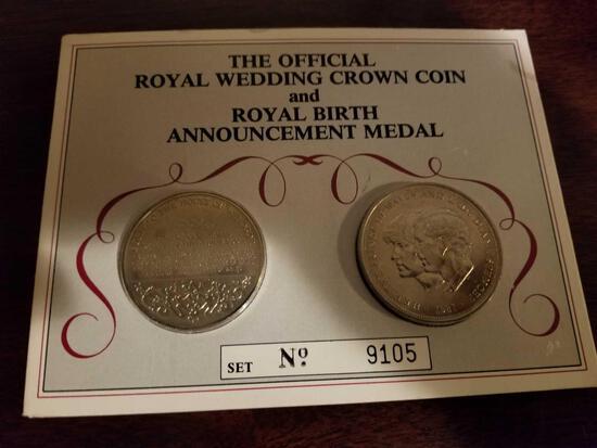 Royal Crown coin and Royal birth medal