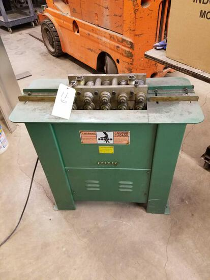 Tin knocker model 20 roll former, capacity 20 GA