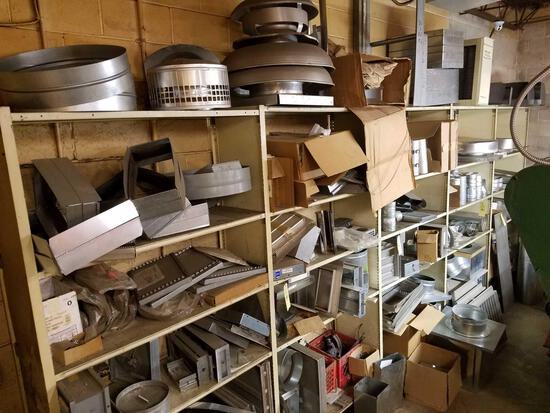 Fittings, ductwork, in line dampeners, attic vents, large lot
