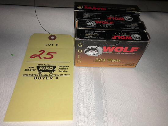 (4) boxes TulAmmo & Wolf .223rem ammo