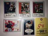 Signed baseball and football cards