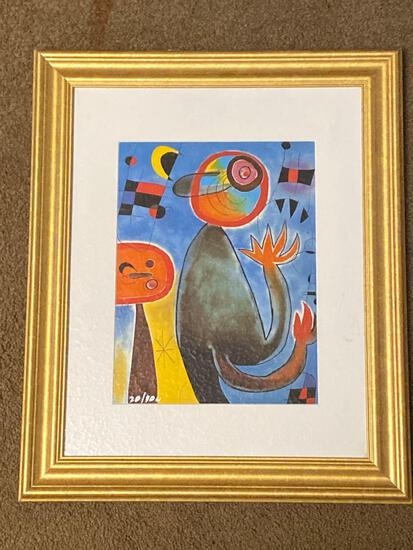 "Joan Miro giclee on paper, ""Ladders Cross the Blue Sky"", 2009, Plate signed edition #20 off300, 20 x"