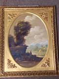 Karol signed oil on copper, 20 x 16 frame.