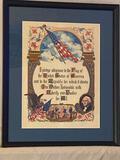 Symbol of Freedom Pledge print byJ. R. Rosen of Boston, 19.25 x 15.75 frame.