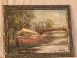 M. Shanks oil/canvas, 18 x 14 frame.