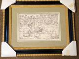 Clyde Singer pencil signed print,
