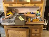 Hoosier Contents, Hardware, Tools, Paint, Blacksmith Tools
