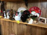 Plates, Wood Figurines, Covered Hen