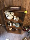Bookshelf, Oil Lamp, Glassware