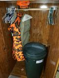 Wardrobe with Hunting Clothes and Hangers
