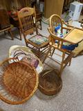 High Chair, Baskets
