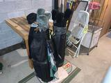 Two Golf Club Bags with Clubs