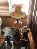 Banquet Lamp, Hummingbird Lamp, Oil Lamp, Figurines