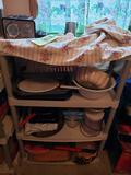 Plastic Shelf amd Contents