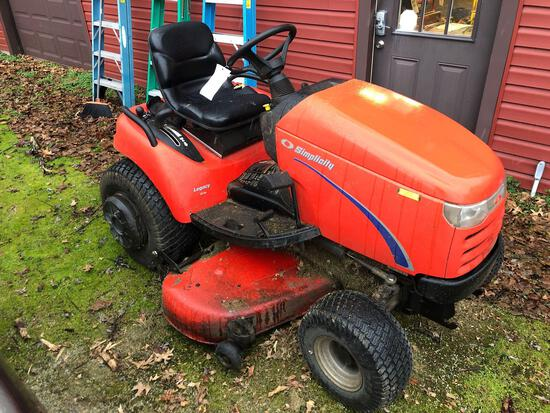 Simplicity Legacy 25hp, Hydrostatic, Hydraulic 60in Deck, Runs, shows 778 hours